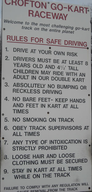 rules for safe driving